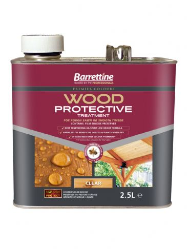 Barrettine wood protector clear 2.5L